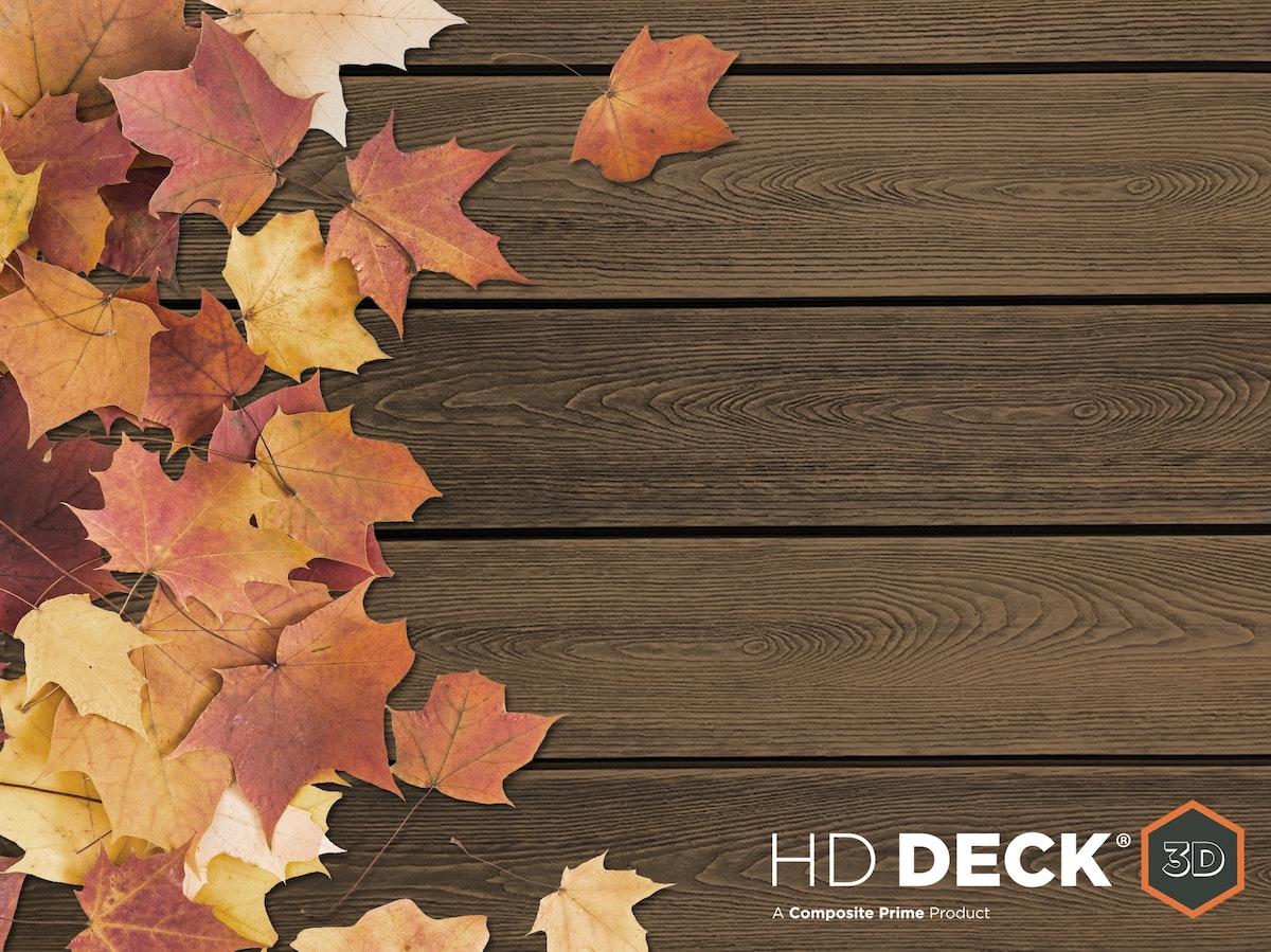 HD Deck 3 D Golden Oak leaves