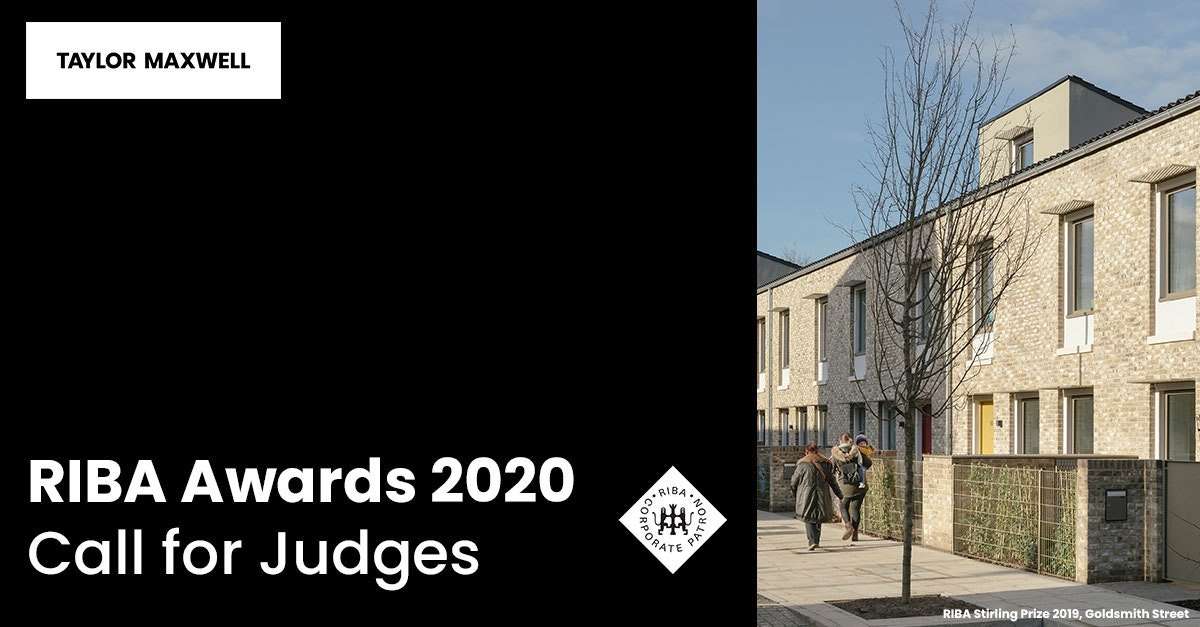 RIBA Awards 2020 Call for Judges